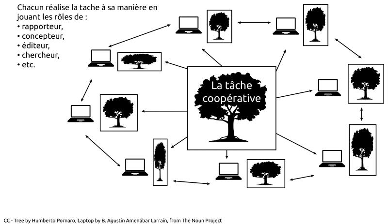 schéma différence coopérarion-collaboration