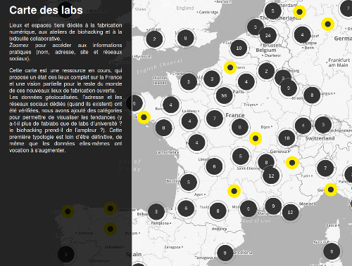 Carte-fablabs Lien vers: http://www.makery.info/map-labs/